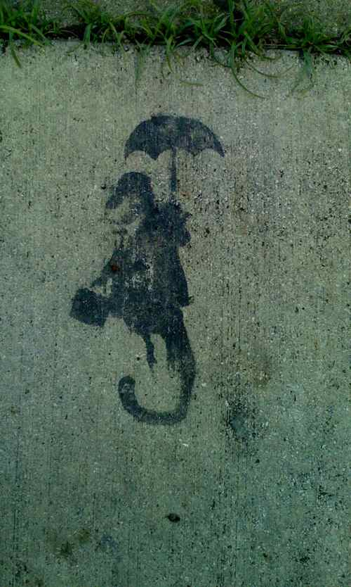 Rainy Day Sidewalk