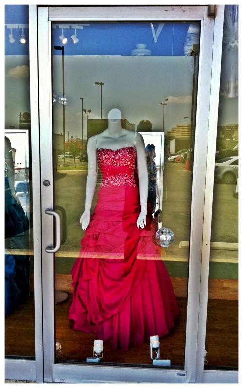 Red Dress Display