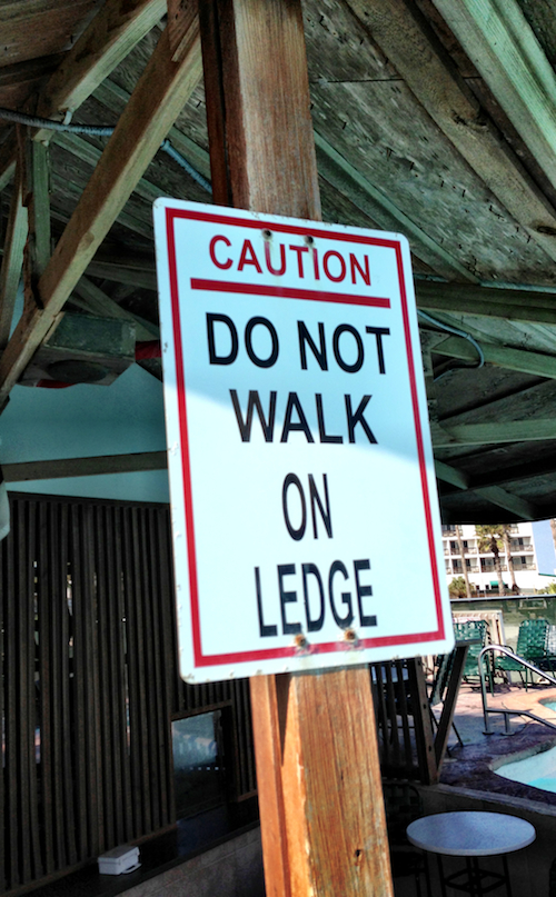 No Dancing on the Ledge