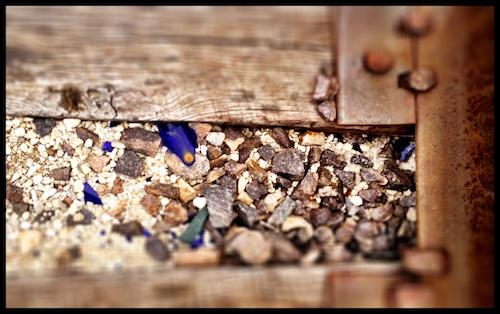 Blue Glass Railroad Tie