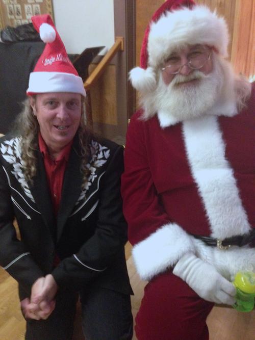 With Santa at the Xmas Party