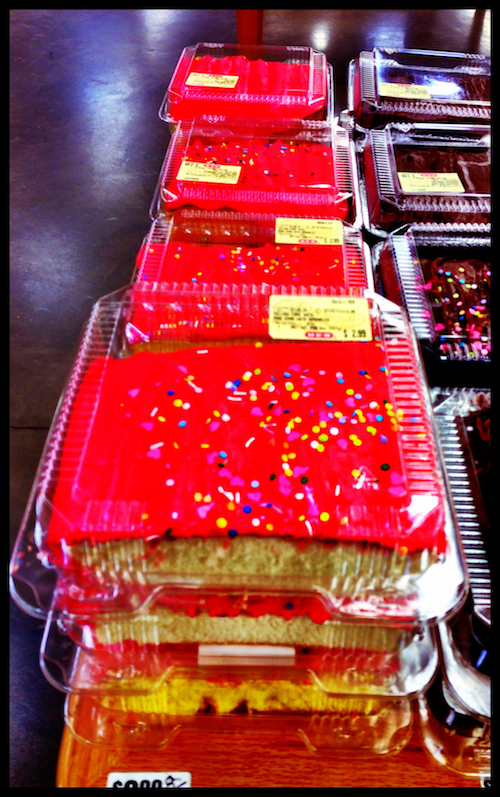 Pink Cake at the Store