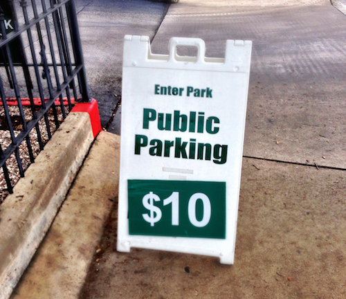 Public Parking $10