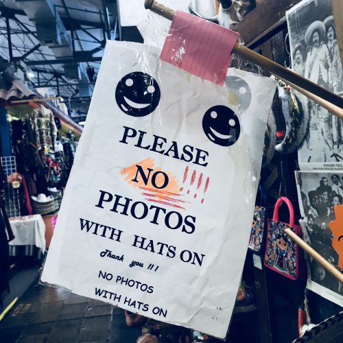 No Photos with Hats