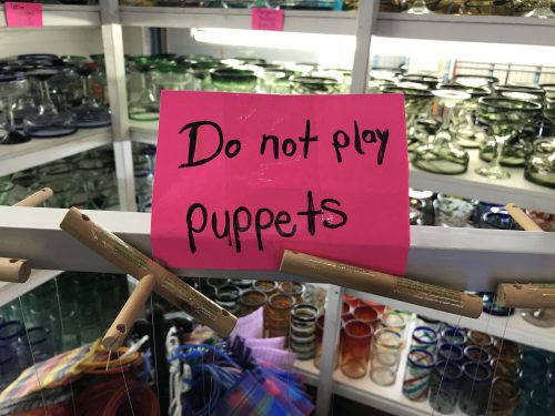 Do not play puppets