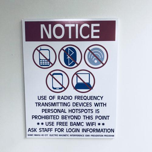 Notice no radio waves