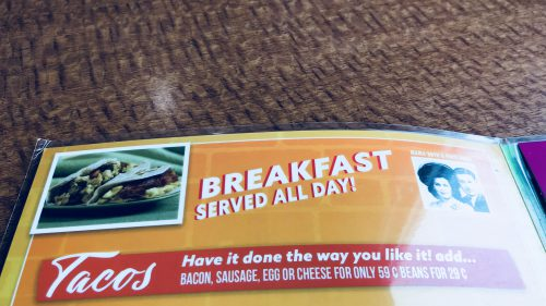 Breakfast Served All Day