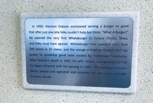What-a-Burger Plaque