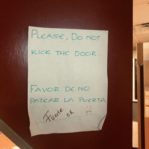 Please Do Not Kick Door