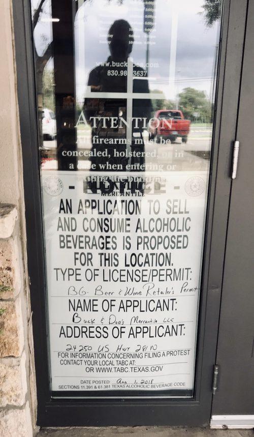 Liquor License Application