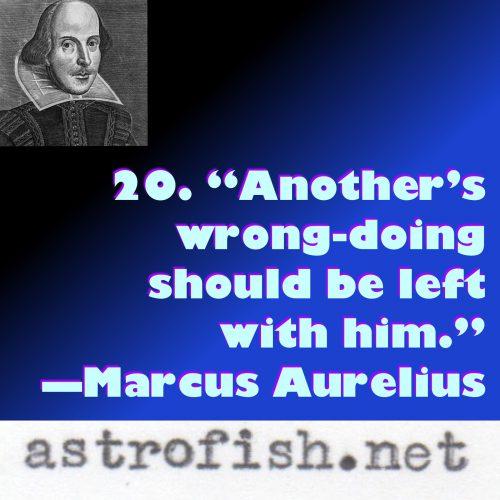 Marcus Aurelius 9.20