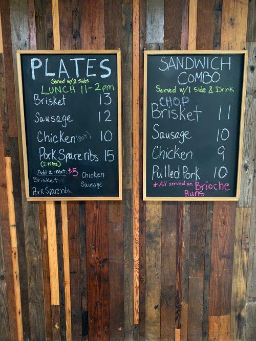 Brickyard menu