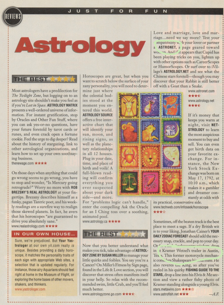 Astrology Scan 1999